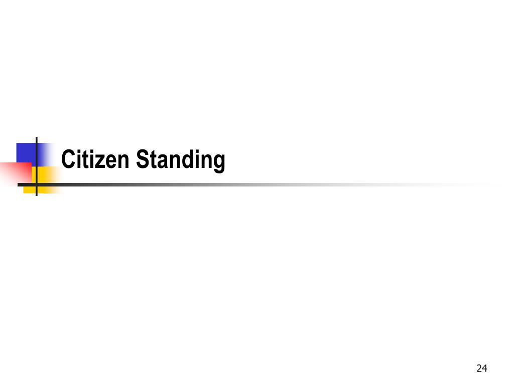 Citizen Standing