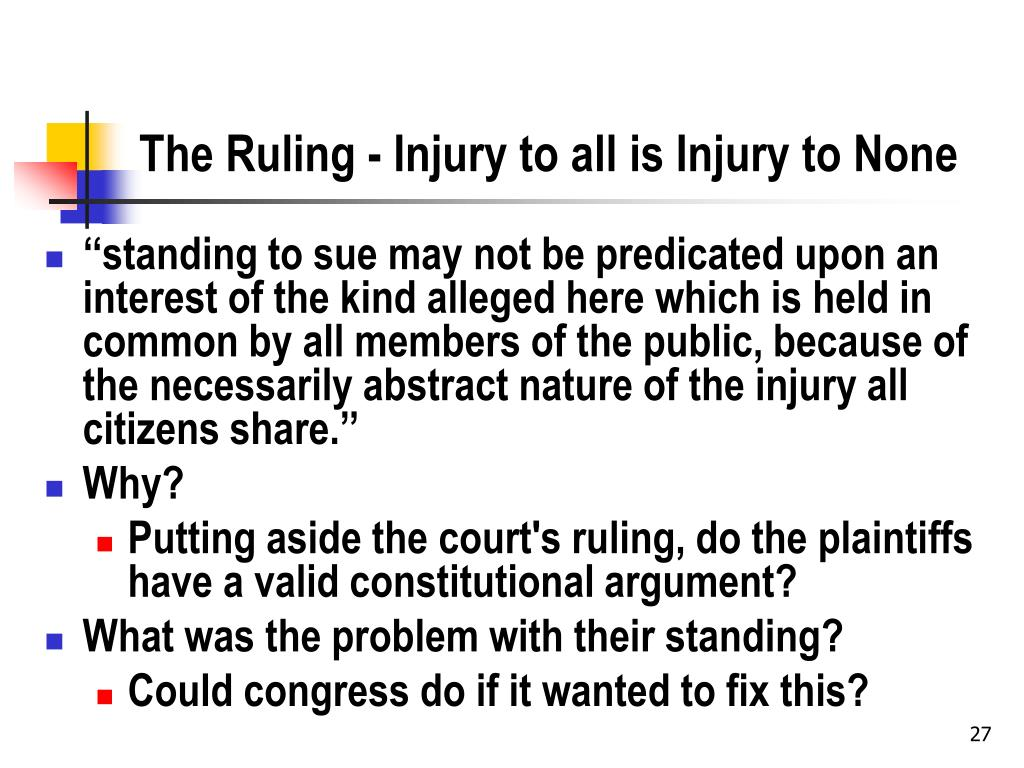 The Ruling - Injury to all is Injury to None