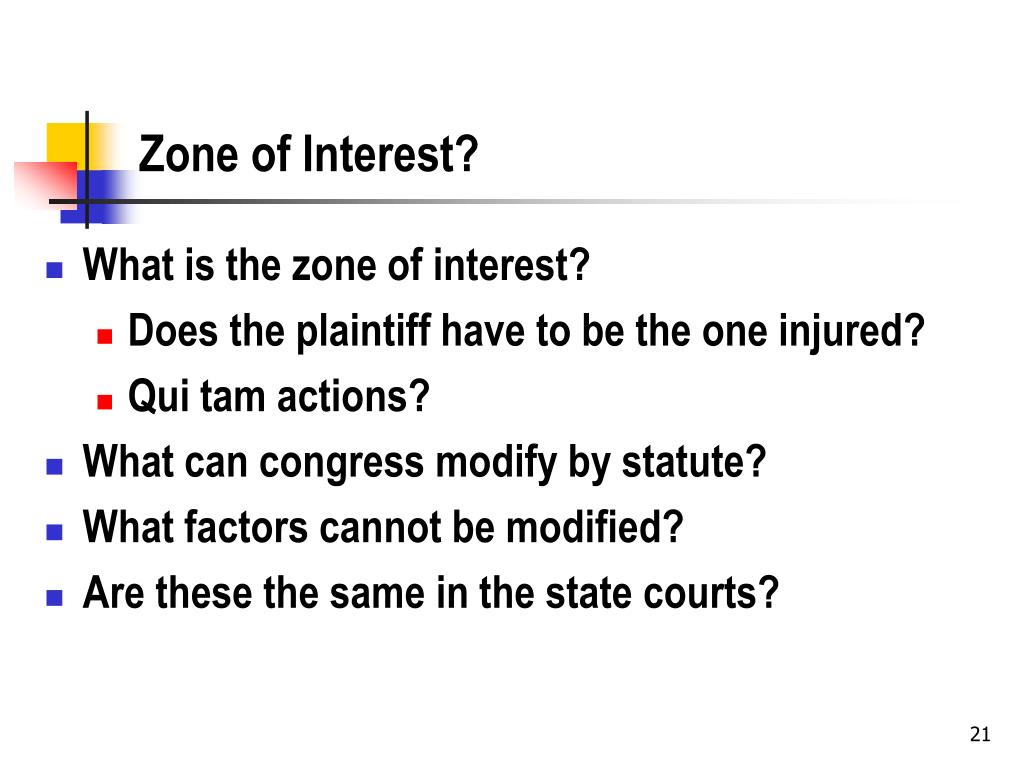 Zone of Interest?