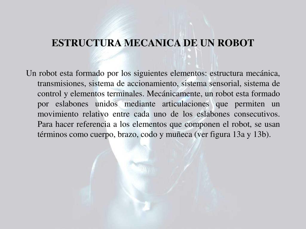 ESTRUCTURA MECANICA DE UN ROBOT