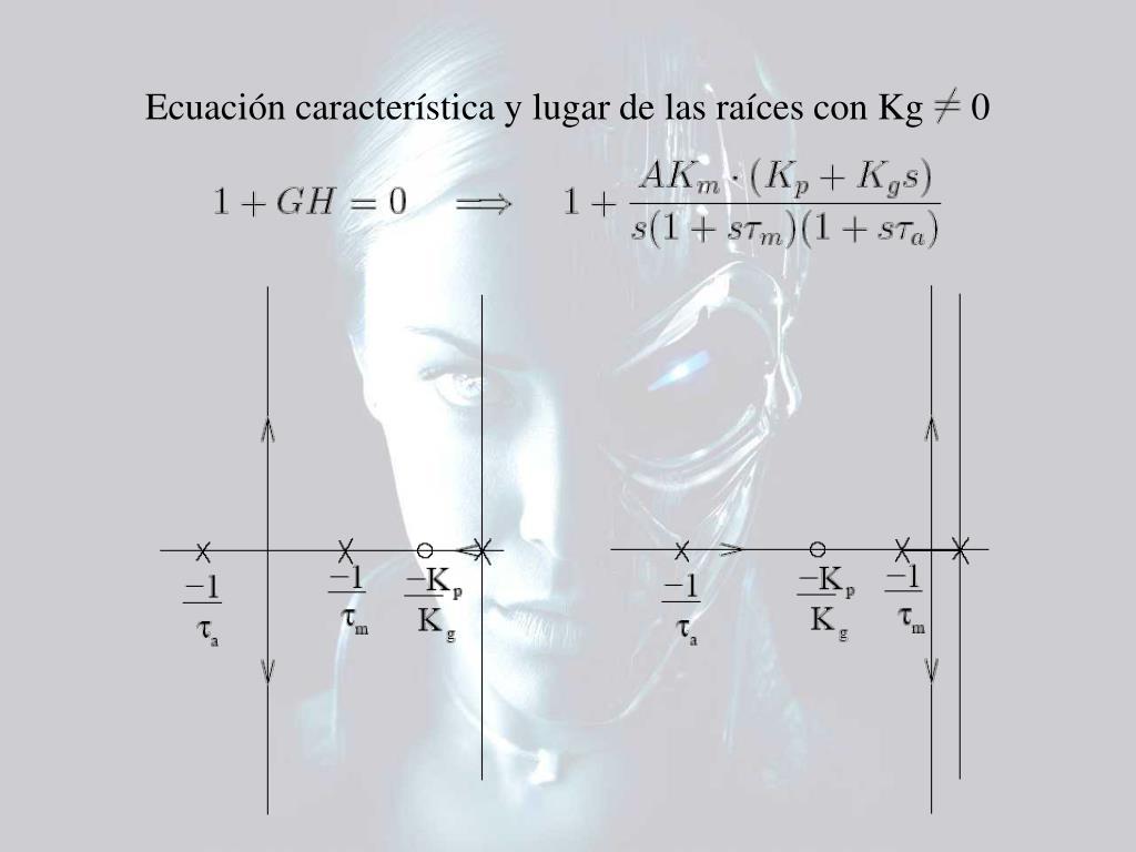 Ecuación característica y lugar de las raíces con Kg     0