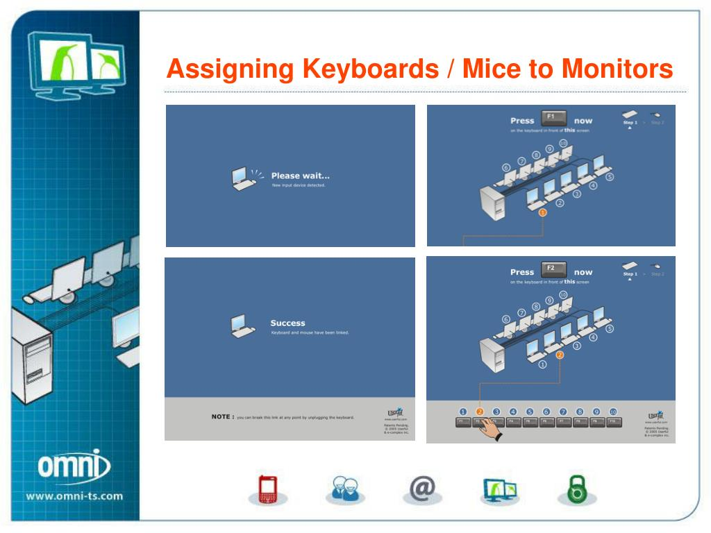 Assigning Keyboards and Mice to Monitors