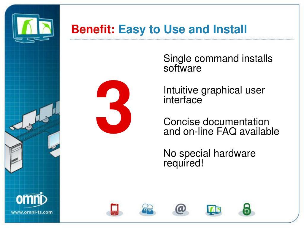 Single command installs software