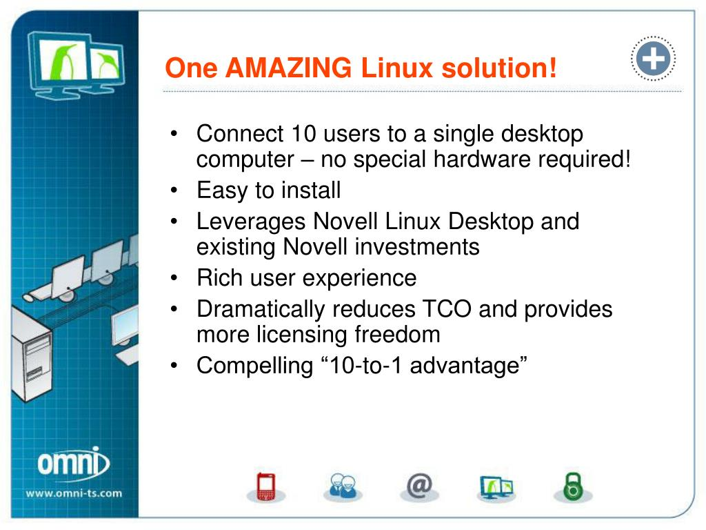 Connect 10 users to a single desktop computer – no special hardware required!