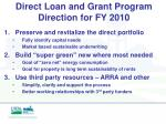 direct loan and grant program direction for fy 2010