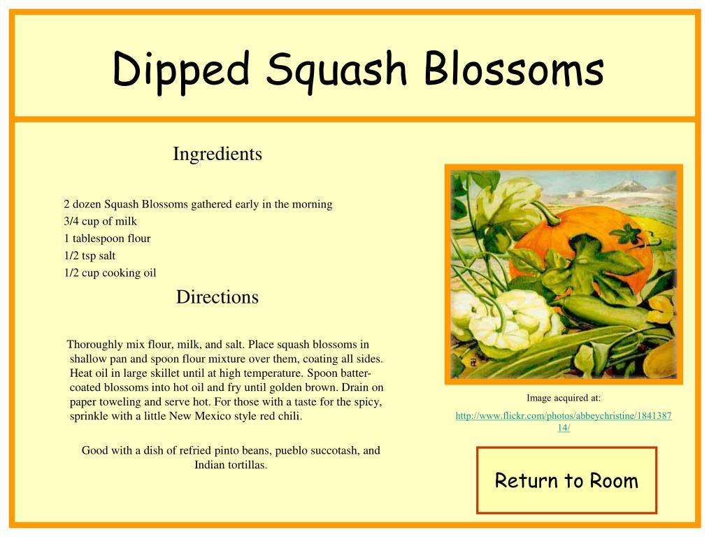 Dipped Squash Blossoms