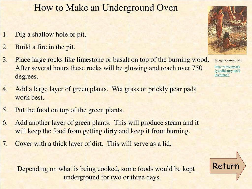 How to Make an Underground Oven