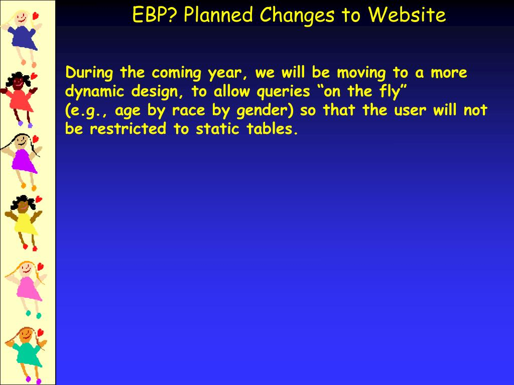 EBP? Planned Changes to Website