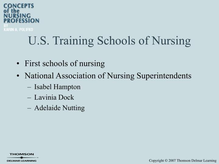 U s training schools of nursing l.jpg
