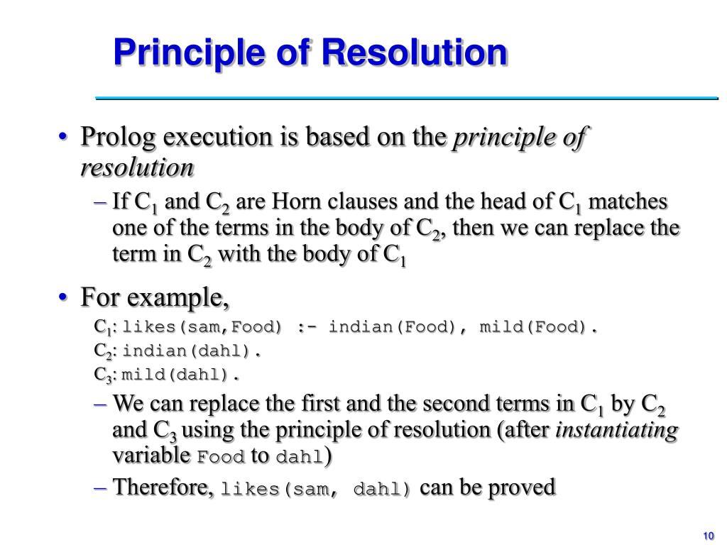 Principle of Resolution