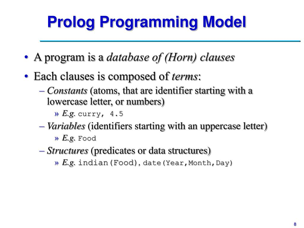 Prolog Programming Model