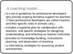 a coaching model