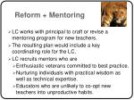 reform mentoring