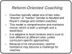 reform oriented coaching56