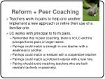 reform peer coaching