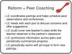 reform peer coaching68
