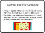 subject specific coaching38