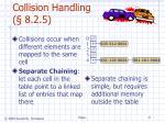 collision handling 8 2 5