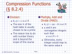 compression functions 8 2 4