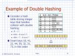 example of double hashing