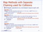 map methods with separate chaining used for collisions