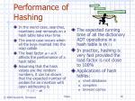 performance of hashing