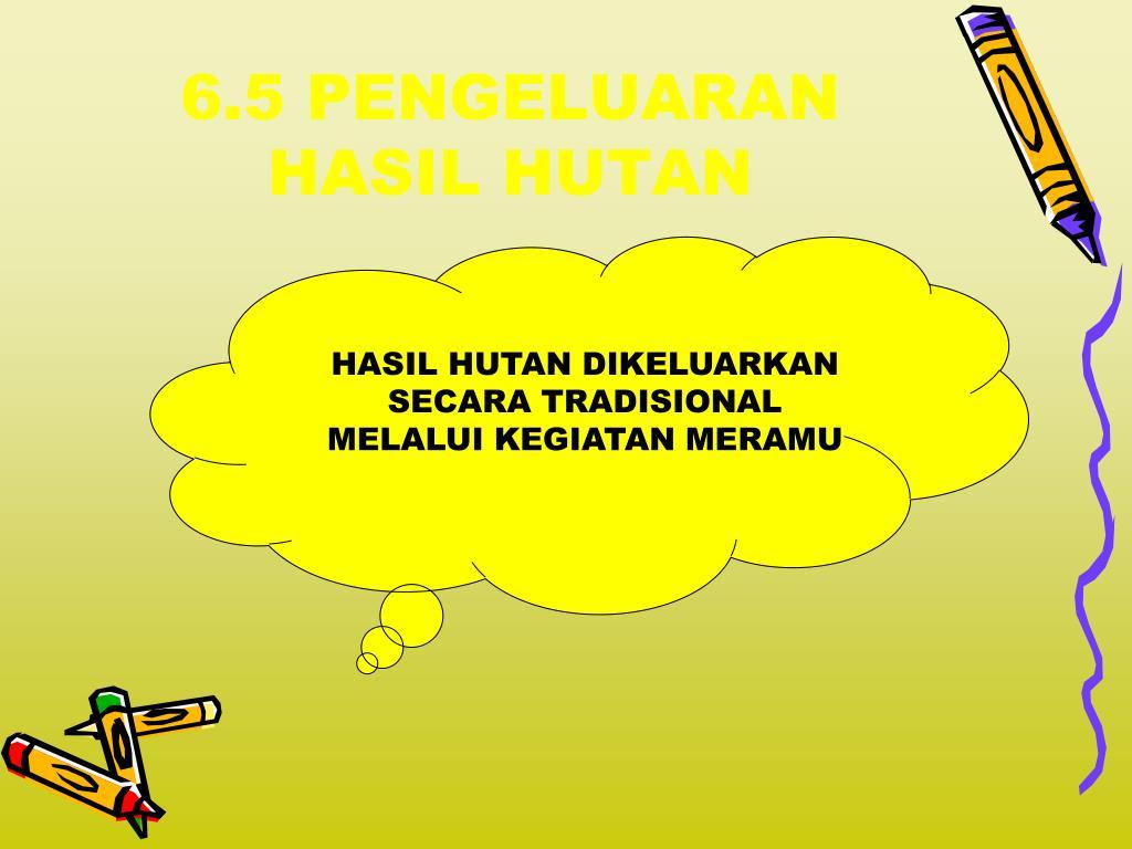 6.5 PENGELUARAN HASIL HUTAN