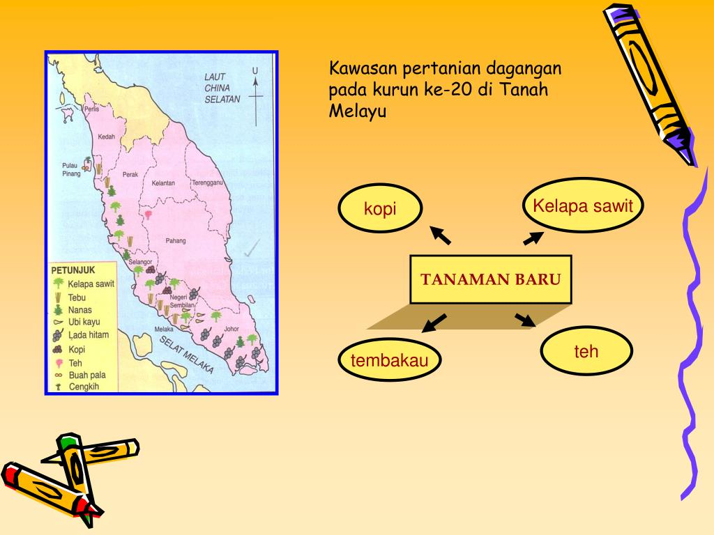 Kawasan pertanian dagangan pada kurun ke-20 di Tanah Melayu