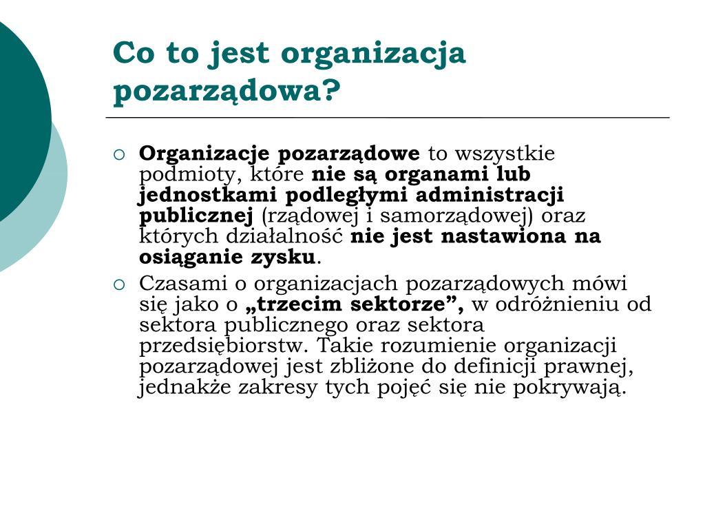 Co to jest organizacja pozarządowa?