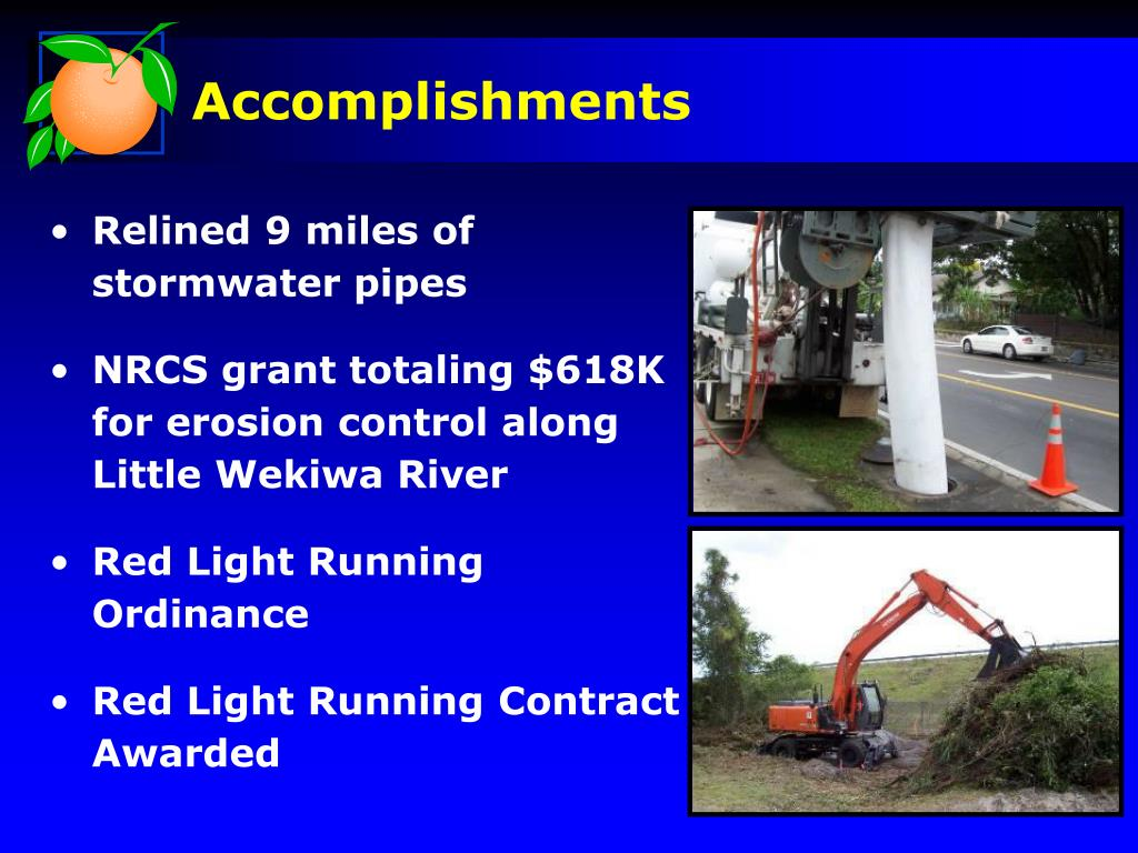 Relined 9 miles of stormwater pipes