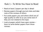 rule 1 to write you have to read