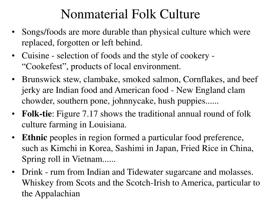 Nonmaterial Folk Culture