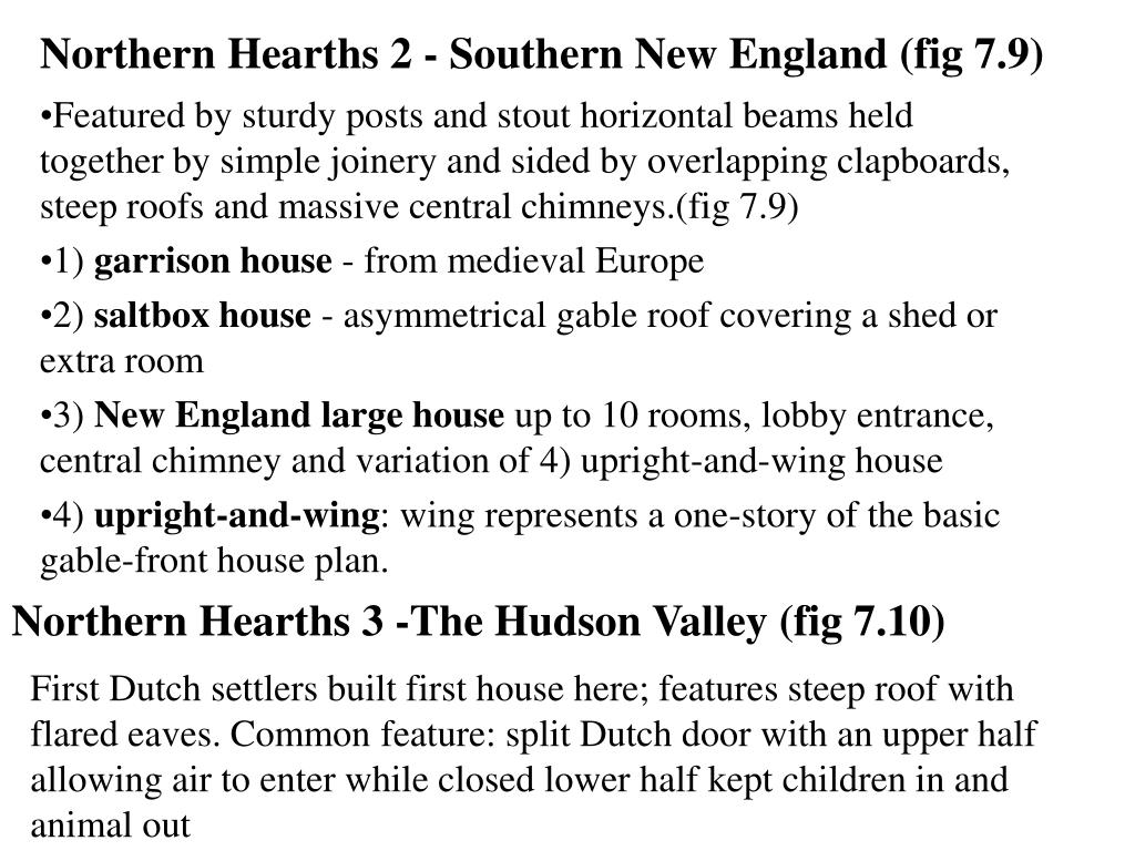Northern Hearths 2 - Southern New England (fig 7.9)