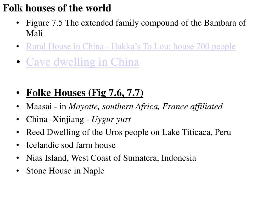 Folk houses of the world