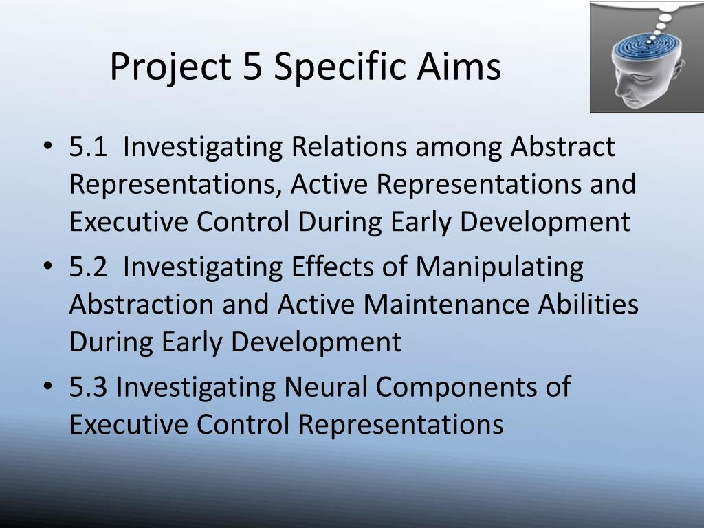 Project 5 Specific Aims