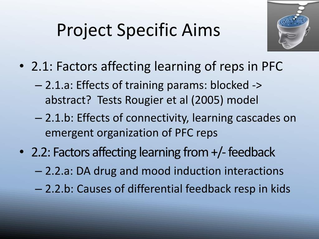 Project Specific Aims