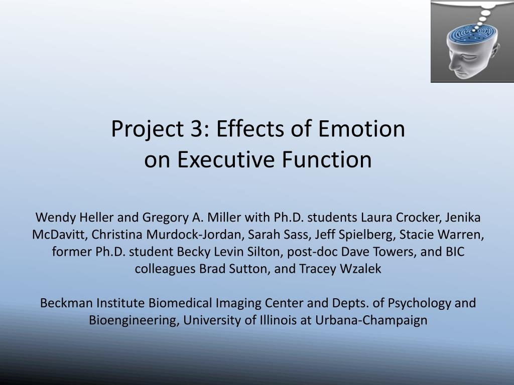 Project 3: Effects of Emotion