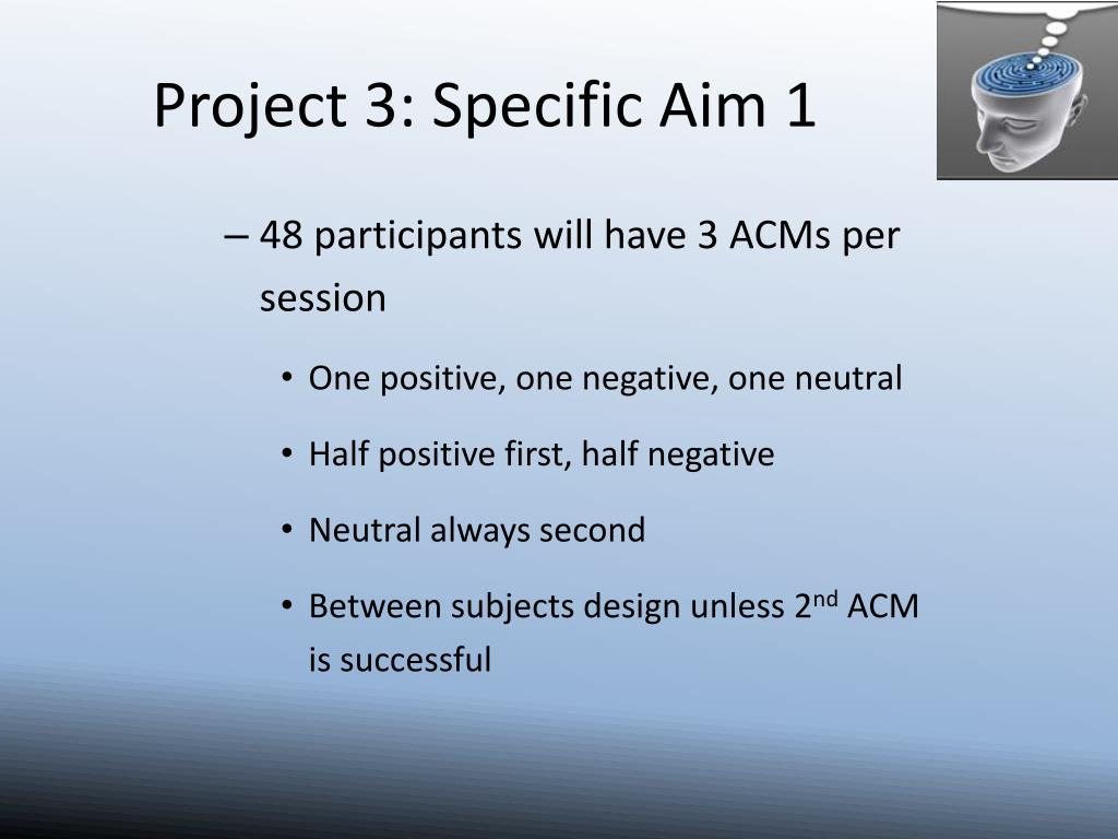 Project 3: Specific Aim 1