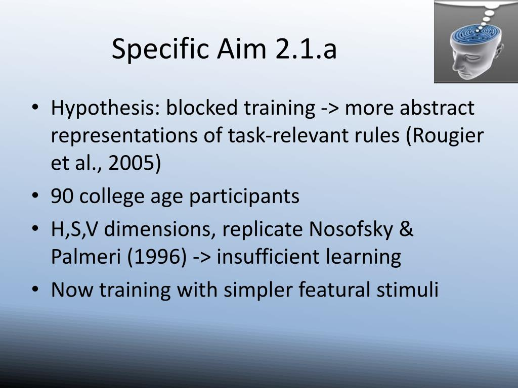 Specific Aim 2.1.a