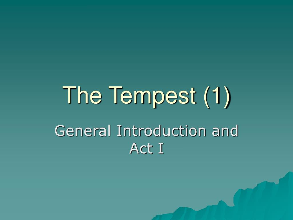 the tempest 1