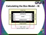 calculating the box model ie