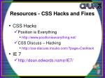 resources css hacks and fixes