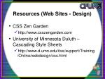 resources web sites design