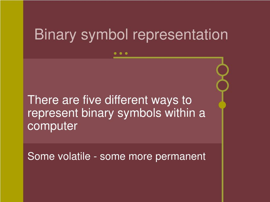 Binary symbol representation