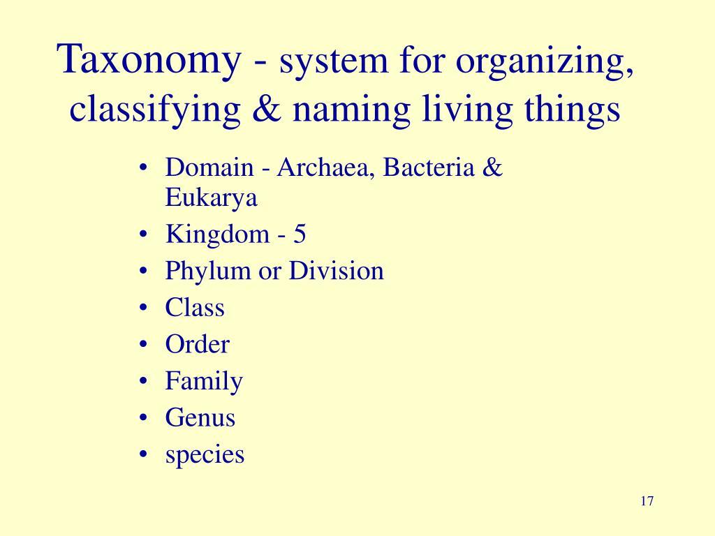 Taxonomy -