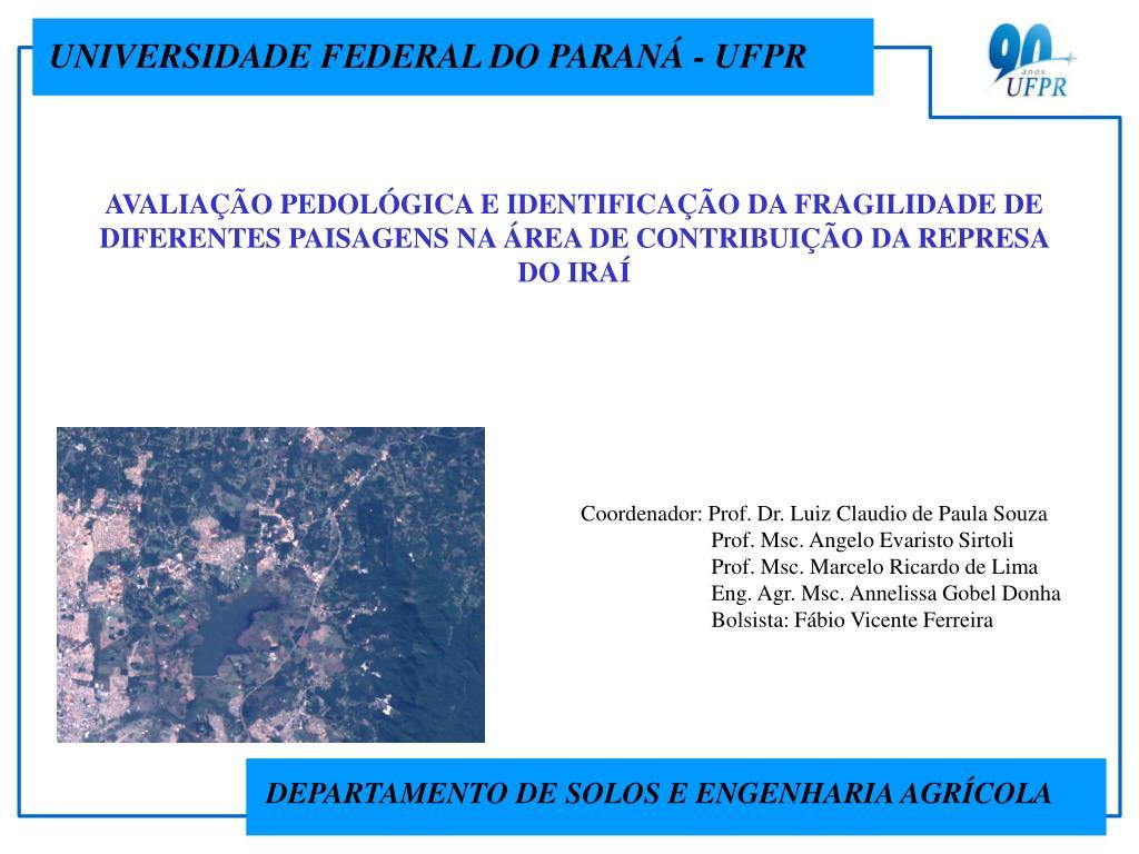 UNIVERSIDADE FEDERAL DO PARANÁ - UFPR