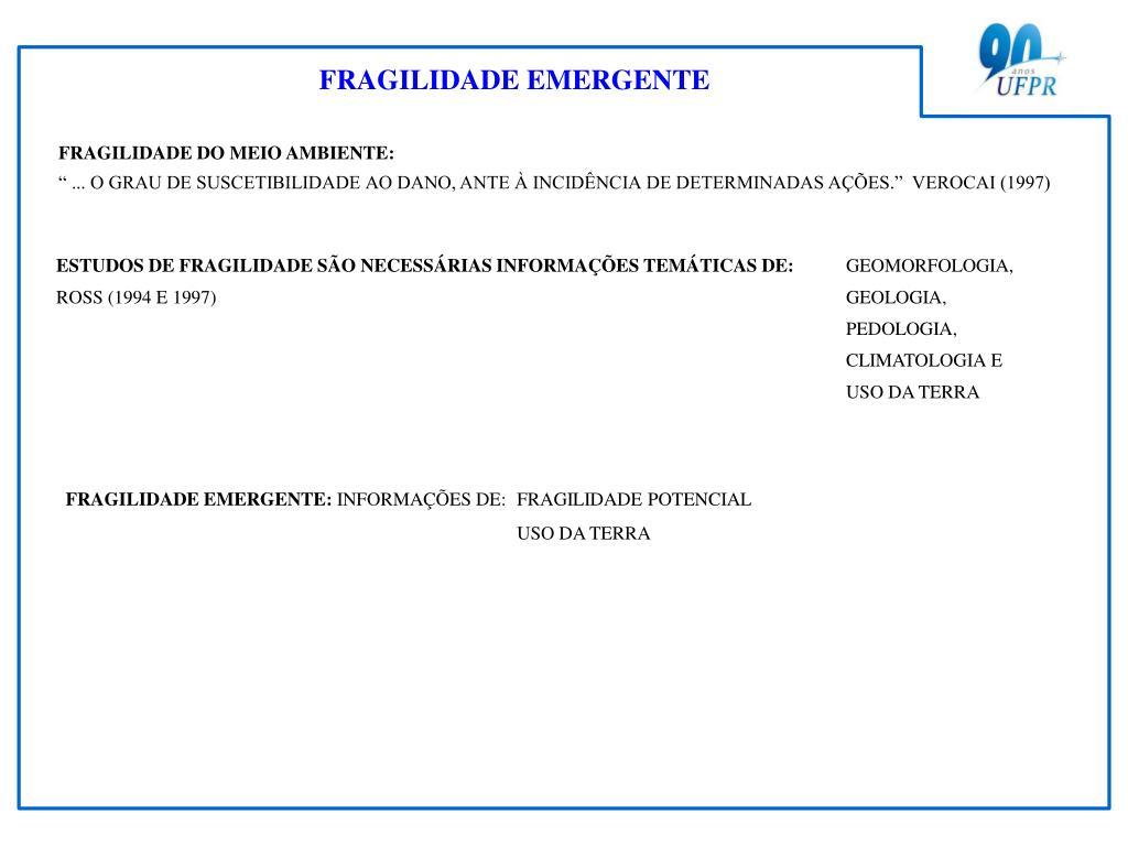 FRAGILIDADE EMERGENTE