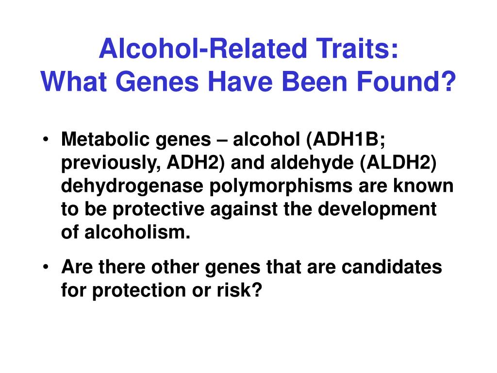 an overview of the genes related to alcoholism Genetics of alcohol use in humans: an overview minants of alcoholism genetics and organization in the year 1983 declared alcohol related problems as major.