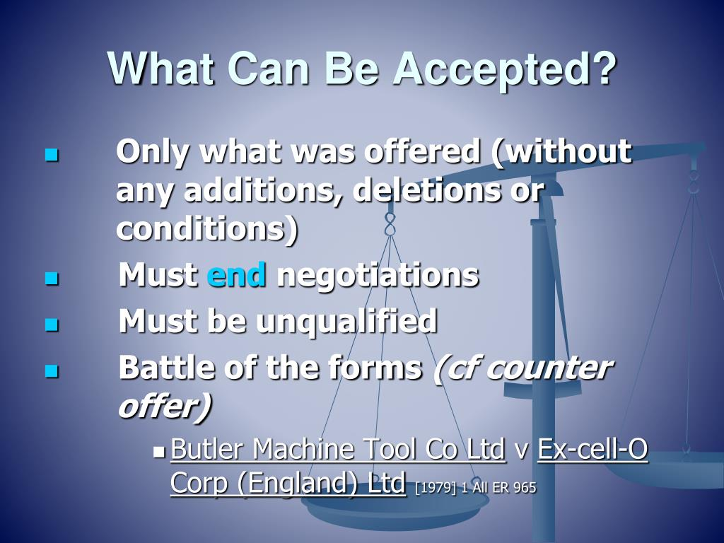 What Can Be Accepted?