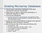 existing microarray databases